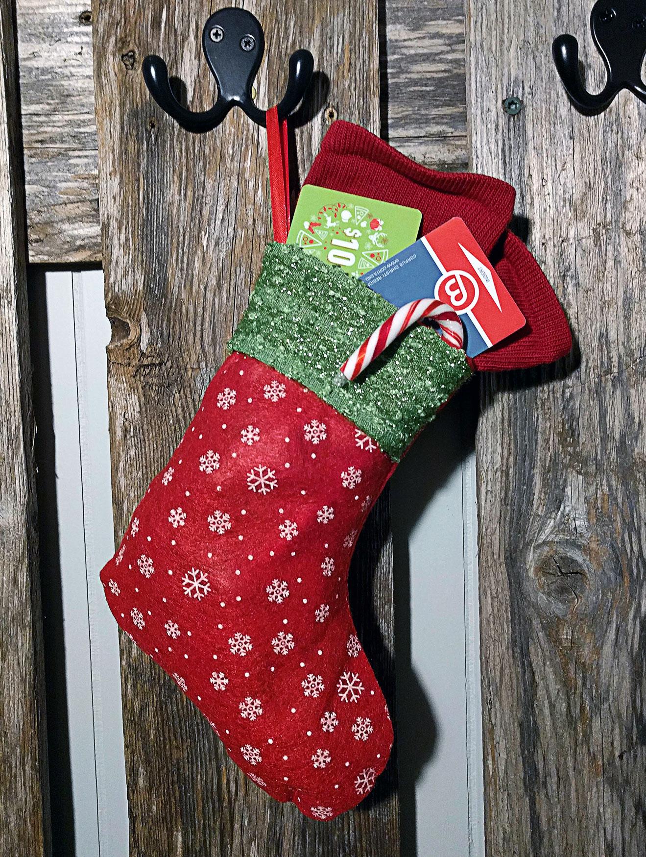 Making Christmas Stocking.Christmas Stocking Gift